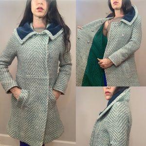 Marc Jacobs Princess velvet tweed daisy wool coat